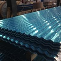 China Exposed Fastener 12 ft Aluminum Roofing Sheet Panel White / Blue ISO 9001 Approval wholesale