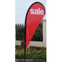 China Outdoor Advertising Teardrop Flag Signs With Full Fiberglass Pole wholesale