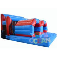 China Insane Team Running Inflatable Tunnel Obstacle Course Rental With Crawling Tubes wholesale