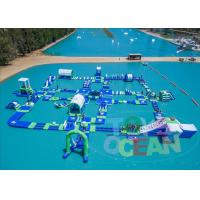 China Blue Green White 0.90mm PVC Inflatable Aqua Park Floating Water Sport Equipment wholesale