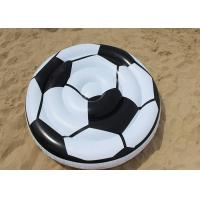 China Adults Soccer Ball Pool Float / Giant Inflatable Swimming Mat For Sports Players on sale