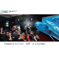 China 4D Movie Theater With Motion Chair Seat, Special Effect System, Flat / Arc Screen wholesale