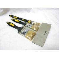 China Plastic Handle Flat And Round Paint Brush Sets With Bristle For Oil Painting wholesale
