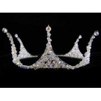 China Platinum Plating Nickel and Lead Free Crystal and Rhinestone bridal crowns and tiaras on sale