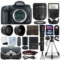 China Canon 7D Mark II DSLR Camera+ 4 Lens 18-55mm IS STM + 500mm + 16GB Telephoto Kit wholesale