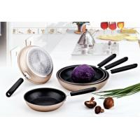 China Aluminum Forged Cookware Nonstick Pan Set With Induction Base wholesale