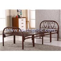 China Collapsible Twin Size Cot Bed With Steel Legs , Fold Away Queen Size Guest Bed‎ wholesale
