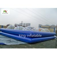 China Commercial Blue Inflatable Swimming Pool For Adults 1.3m High Rent wholesale