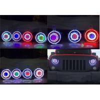 "China Jeep JK Wrangler 7"" HID & LED Headlights 7 Color Options wholesale"