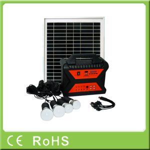 China 10w 18V off grid mini portable home power panel solar kit with radio wholesale