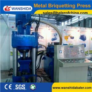 China WANSHIDA Y83-5000 Stock cheap scrap iron brass steel chip press aluminum briquette machine wholesale