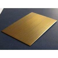 China 304 Champagne Gold Stainless Steel Sheet-Patterned Stainless Steel Sheet PVD Color Coated Stainless Steel Sheet wholesale