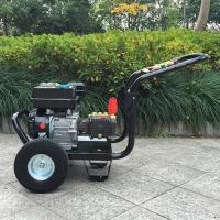 China 9hp 4 Stroke plunger pump gasoline high pressure washer / hot , cold water pressure washer wholesale