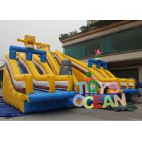 China Digitally Printing Commercial Inflatable Slides Happy Spongebob Theme For Park wholesale