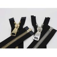 China Silver / Gold Teeth Open End 22 Inch Metal Separating Zipper For Dress / Causal Wear wholesale