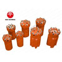 China Orange Alloy Steel Top Hammer Drill Bits , Thread Button Drill Bits ISO Approval wholesale