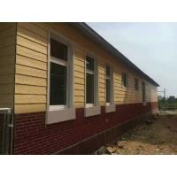 China Natural Wood Textured Fibre Cement Board Cladding Panels For Container House on sale