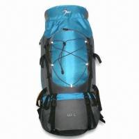 China Hiking Bag with Weatherproof Zip, Ice-axe Holder and 60L Capacity on sale