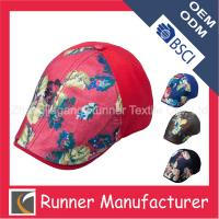 China Floral Printing Fashion Trendy Custom Ivy Cap wholesale