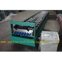 China Trapezoidal Roof Panel Roof Tile Roof Sheet Cold Roll Forming Machine For Construction Material PLC Automated Control wholesale