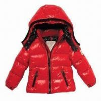 China Children's Down Jacket, Waterproof Zipper and Breathable Fabric wholesale