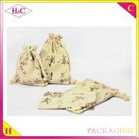 China Luxury flax bag for jewelry packaging bag wholesale