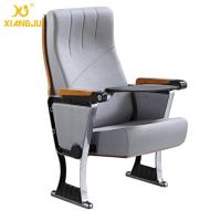 China Upholstered Foldable Auditorium Theater Seating With Writing Pad for Conference Hall wholesale
