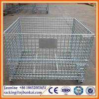 Wholesale wire metal stillage factory,wire metal stillage exporter ,Stackable Warehouse Wire Metal S from china suppliers