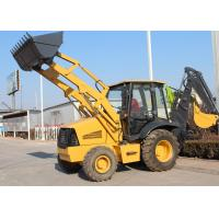 China Low Emission 4WD Tractor With Backhoe And Loader Loading Bucket 1.0 CBM wholesale