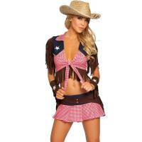 China Ride Em Cowgirl Party Adult Costumes , Sexy Halloween Costume With Custom Logo on sale