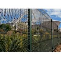China ClearVu Fencing /358 Security Fencing Panels Mesh 12.70mm x 76.2mm Diameter 4.00mm HDG powder coated wholesale