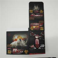 China ABS Material Plastic Pill Bottles Rhino 12 Blister Packaging Card Display Box wholesale