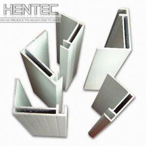 China Standard aluminium extrusion profiles / shapes 6063 - T5 10 um on sale
