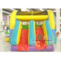 PVC Gaint Inflatable Bouncer Playground Combo With Two Slide For Kids Outdoor