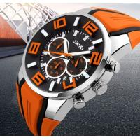 China SKMEI Brand Six pin Stopwatch Chronograph Sports Watches Men Waterproof Silicone 9128 wholesale