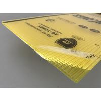 China Yellow Color Polycarbonate Twin Wall Roofing Sheets 4mm - 10mm Thickness wholesale