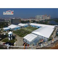 China 6m Side Height Aluminum Structure Outdoor Custom Trade Show Tents For Exhibition Events wholesale