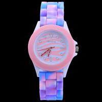 Quality New arrive fashion Rainbow Color Watch women Silicone Watch Leopard Geneva Watch with Zebra Face watch for sale