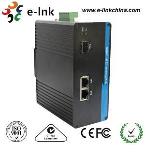 China Single Mode Industrial Ethernet Media Converter 1 Port 100BASE SFP + 2 Port 10 / 100BASE - T wholesale