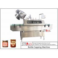 China Sauces Jam Glass Bottle Capping Machine , Twist Off Cap Vacuum Lug Capping Machine on sale