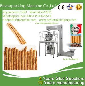 China Máquina de envasado de alta velocidad con pesador de cabezas múltiples para palitos de pan de alimen wholesale