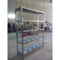 China Cold Room Stainless Steel Storage Shelf 5 Tiers Multi - Functional wholesale