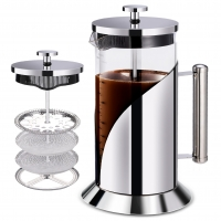 China 304 Grade Stainless Steel French Press Coffee Maker 34 Ounce with 4 Level Filtration System on sale