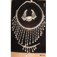 China Charming Diamond Jewelry Crystal Necklace and Earring Set for Engagement wholesale