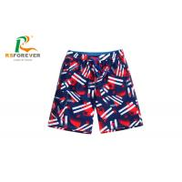 Buy cheap Printing with your own logo Dry fit Drawstring Elastic Waist men Board Shorts from wholesalers