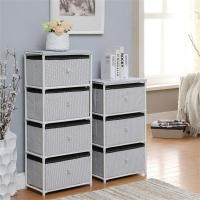 China Daily Necessities Bedroom Storage Units, CE Storage Shelving Units With Fabric Drawer wholesale
