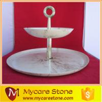 ... vintage 2 tier carrara white marble serving tray from china suppliers