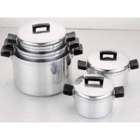 China Restaurant / Home 10 Piece Aluminum Cookware Set, Cooking Pot Sets for Gas Cooker wholesale