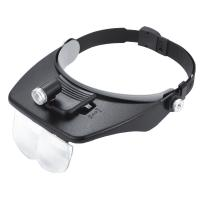 China Surgical LED Magnifying Glass , Wearing Lighting Welding Helmet Magnifier wholesale