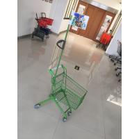 China Carbon Steel Play Kids Shopping Carts Flag Logo Pole 465 X 330 X 686mm For Children wholesale